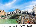 Rialto Bridge In Venice  Italy. ...