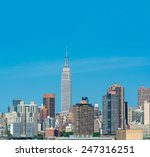 midtown manhattan skyline  new... | Shutterstock . vector #247316251