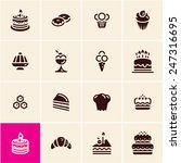cakes and dessert icons set.... | Shutterstock .eps vector #247316695