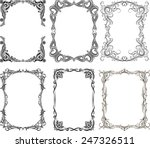set of 6 vector frames | Shutterstock .eps vector #247326511