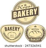 set of bakery labels for design ... | Shutterstock .eps vector #247326541