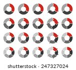 vector circle arrows for... | Shutterstock .eps vector #247327024