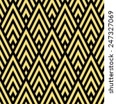 Seamless Black And Gold Rhombi...