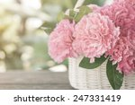 Pink Carnations In The Basket...