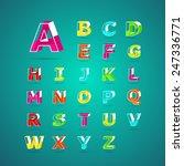 isometric alphabet font.capital ... | Shutterstock .eps vector #247336771
