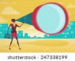 businesswoman looks through her ... | Shutterstock . vector #247338199