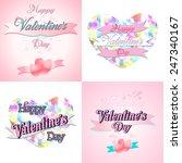 set of  happy valentine's day... | Shutterstock .eps vector #247340167