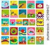 the fancy a z alphabets  each... | Shutterstock .eps vector #247348417