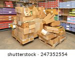 big pile of boxes in storage... | Shutterstock . vector #247352554