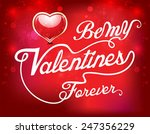 happy valentine day text... | Shutterstock .eps vector #247356229