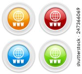 colorful round buttons with www ... | Shutterstock .eps vector #247366069