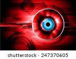 red light abstract technology... | Shutterstock .eps vector #247370605