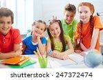 group of little friendly... | Shutterstock . vector #247372474