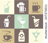 beverages icons set great for... | Shutterstock .eps vector #247373011