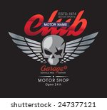 motor skull garage and service... | Shutterstock .eps vector #247377121