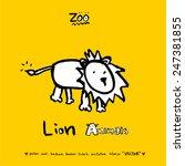hand drawn animal illustration  ... | Shutterstock .eps vector #247381855