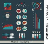 medical infographic set  in... | Shutterstock .eps vector #247396669