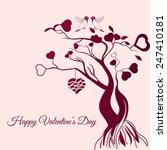 february 14 happy valentines... | Shutterstock .eps vector #247410181