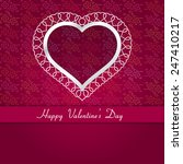 february 14 happy valentines... | Shutterstock .eps vector #247410217
