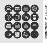 set of simple icons with... | Shutterstock .eps vector #247413334