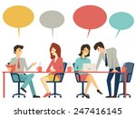 business people  man and woman  ... | Shutterstock .eps vector #247416145