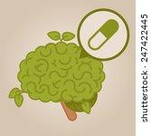 eco friendly brain  pills | Shutterstock .eps vector #247422445