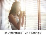 Stock photo morning sunshine and good coffee always makes me in a good mood 247425469