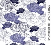 seamless pattern with flowers.... | Shutterstock .eps vector #247433827