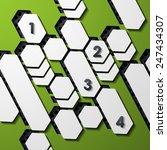 modern infographic  realistic... | Shutterstock . vector #247434307