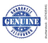 genuine  guarantee stamp.  | Shutterstock .eps vector #247435441