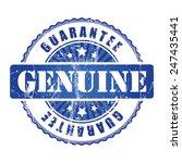 genuine  guarantee stamp.  | Shutterstock .eps vector #247435441