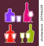 colorful set with alcohol... | Shutterstock . vector #247446109