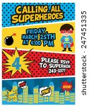 superhero birthday | Shutterstock .eps vector #247451335