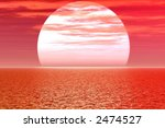 red sunset | Shutterstock . vector #2474527