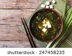 japanese miso soup in a brown... | Shutterstock . vector #247458235