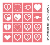 set of simple icons with heart... | Shutterstock .eps vector #247460977