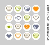 set of simple icons with heart... | Shutterstock .eps vector #247461085
