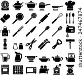 kitchen tool icon collection  ... | Shutterstock .eps vector #247467874