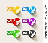 free zone wi fi  sticker | Shutterstock . vector #247468999