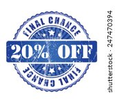 20   final chance stamp.  | Shutterstock .eps vector #247470394
