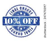 10  final chance stamp.  | Shutterstock .eps vector #247470397