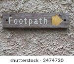footpath sign near rydal church ...
