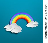 colorful rainbow arch with... | Shutterstock .eps vector #247476454