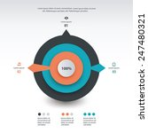 pie chart infographics template ... | Shutterstock .eps vector #247480321
