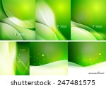 set of abstract shining... | Shutterstock .eps vector #247481575