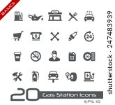 gas station icons    basics | Shutterstock .eps vector #247483939