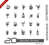 drinks icons    basics | Shutterstock .eps vector #247483945