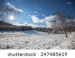 Snowy Winter Landscape In The...