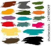 rainbow vector brush strokes... | Shutterstock .eps vector #247489249