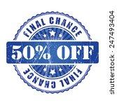 50   final chance stamp.  | Shutterstock . vector #247493404